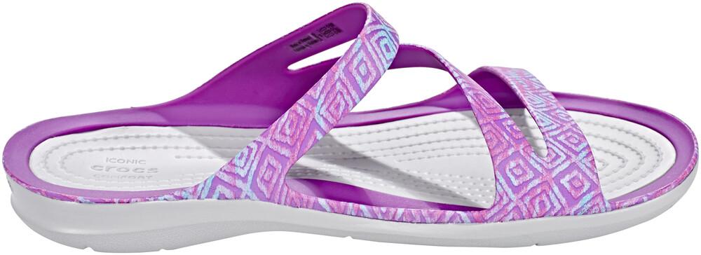 crocs Swiftwater Graphic Sandals Women Amethyst Diamond/Light Grey Schuhgröße 41-42 2018 Sandalen K9M5CWG